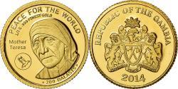 World Coins - Coin, GAMBIA, THE, Mère Teresa, 200 Dalasis, 2014, , Gold