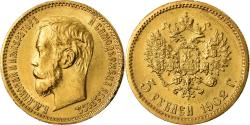 Ancient Coins - Coin, Russia, Nicholas II, 5 Roubles, 1902, St. Petersburg, , Gold