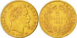 Ancient Coins - Coin, France, Napoleon III, 5 Francs, 1862, Paris, EF(40-45), Gold, KM 803.1