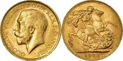 World Coins - Coin, Australia, George V, Sovereign, 1922, Perth, , Gold, KM:29