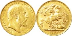 World Coins - Coin, Australia, Edward VII, Sovereign, 1903, Melbourne, , Gold, KM:15