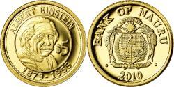 World Coins - Coin, Nauru, Einstein, 5 Dollars, 2010, , Gold
