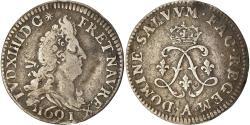 World Coins - Coin, France, Louis XIV, 4 Sols aux 2 L, 4 Sols 2 Deniers, 1691, Paris