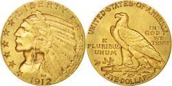 Us Coins - Coin, United States, Indian Head, $5, Half Eagle, 1912, U.S. Mint, Philadelphia