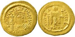 Coin, Maurice Tiberius, Solidus, Constantinople, EF(40-45), Gold, Sear:478