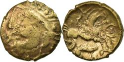 Ancient Coins - Coin, Aulerci Eburovices, Hemistater, VF(20-25), Electrum, Delestrée:2401