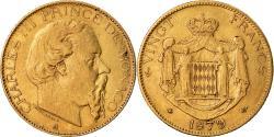 Ancient Coins - Coin, Monaco, Charles III, 20 Francs, Vingt, 1879, Paris, , Gold, KM:98