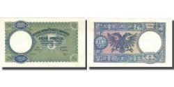 World Coins - Banknote, Albania, 5 Franga, Undated (1939), KM:6a, UNC(64)