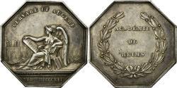 World Coins - France, Token, Noblesse et Villes, Académie de Reims, 1841, Pingret,