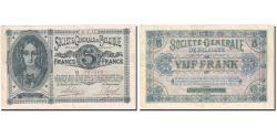World Coins - Banknote, Belgium, 5 Francs, 1915, 1915-01-06, KM:88, VF(30-35)