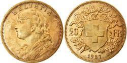 Ancient Coins - Coin, Switzerland, 20 Francs, 1927, Bern, , Gold, KM:35.1