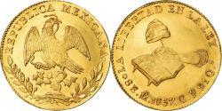 World Coins - Coin, Mexico, 8 Escudos, 1857, Mexico City, , Gold, KM:383.9