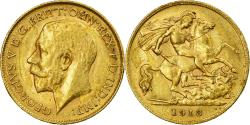 World Coins - Coin, Great Britain, George V, 1/2 Sovereign, 1913, , Gold, KM:819