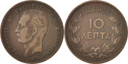 World Coins - GREECE, 10 Lepta, 1882, KM #55, , Copper, 30.3, 9.58