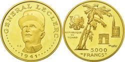 World Coins - Coin, Chad, Général Leclerc, 5000 Francs, 1970, Paris, , Gold, KM:10