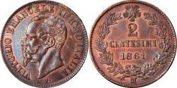 World Coins - Coin, Italy, Vittorio Emanuele II, 2 Centesimi, 1861, Milan, , Copper
