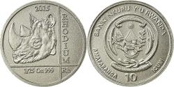 World Coins - Coin, Rwanda, Rhinocéros, 10 Francs, 2015, , Rhodium
