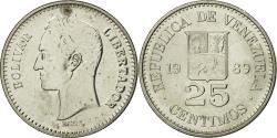 World Coins - Coin, Venezuela, 25 Centimos, 1989, , Nickel Clad Steel, KM:50a