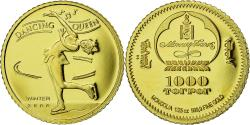 World Coins - Coin, Mongolia, Dancing Queen, 1000 Tugrik, 2006, Proof, , Gold