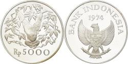 Ancient Coins - Coin, Indonesia, 5000 Rupiah, 1974, Proof, , Silver, KM:40a