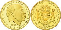World Coins - Coin, Gabon, Léon Mba, 25 Francs, 1960, Paris, Proof, , Gold, KM:2