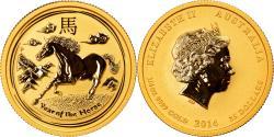 World Coins - Coin, Australia, Elizabeth II, Lunar, 25 Dollars, 2014, Perth, 1/4 Oz