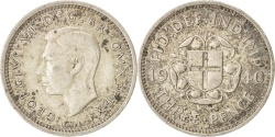 World Coins - Great Britain, George VI, 3 Pence, 1940, AU(50-53), Silver, KM:848