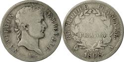 World Coins - Coin, France, Napoléon I, Franc, 1808, Paris, , Silver, KM:682.1