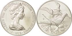 World Coins - BRITISH VIRGIN ISLANDS, Elizabeth II, Dollar, 1973, Franklin Mint, U.S.A
