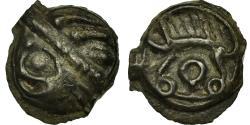 Ancient Coins - Coin, Leuci, Potin à la tête d'indien, , Potin, Delestrée:226
