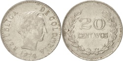 World Coins - Colombia, 20 Centavos, 1970, KM:237, , Nickel Clad Steel