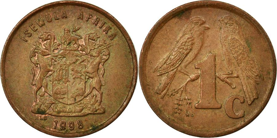 World Coins - Coin, South Africa, Cent, 1998, , Copper Plated Steel, KM:170