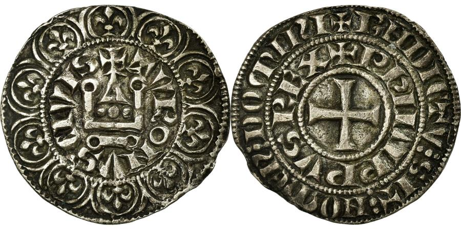 World Coins - Coin, France, Philip IV, Maille Tierce, EF(40-45), Silver, Duplessy:219