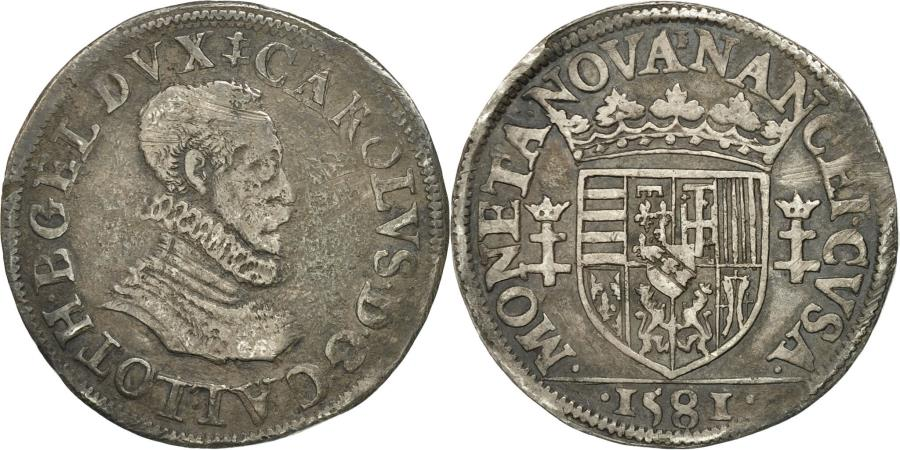 World Coins - Coin, France, LORRAINE, Charles III, Teston, 1581, Nancy, EF(40-45), Silver