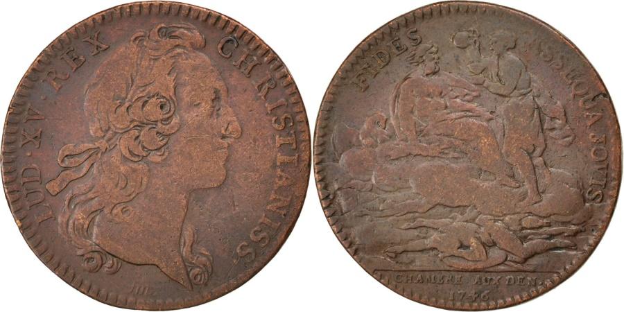 World Coins - France, Royal, Token, , Copper, 28, Feuardent #2515, 7.50