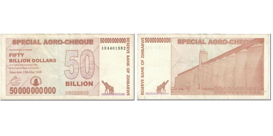 Banknote Zimbabwe 50 Billion Dollars