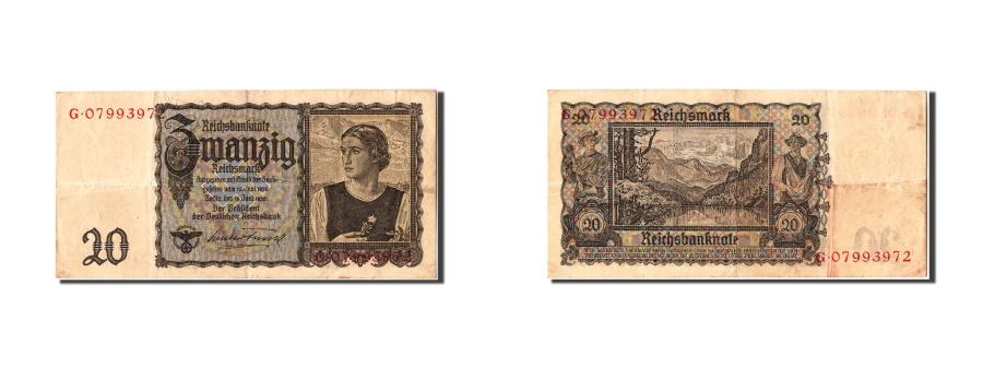 World Coins - Germany, 20 Reichsmark, 1939, KM #185, 1939-06-16, AU(50-53), G07993972