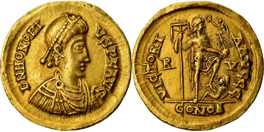 Ancient Coins - Coin, Honorius, Solidus, Ravenna, , Gold, RIC:1287
