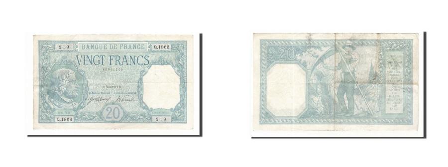 World Coins - France, 20 Francs, 20 F 1916-1919 ''Bayard'', 1917, KM #74, 1917-04-05,...