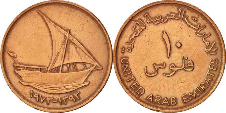World Coins - United Arab Emirates, 10 Fils, 1973, British Royal Mint, , KM:3.1
