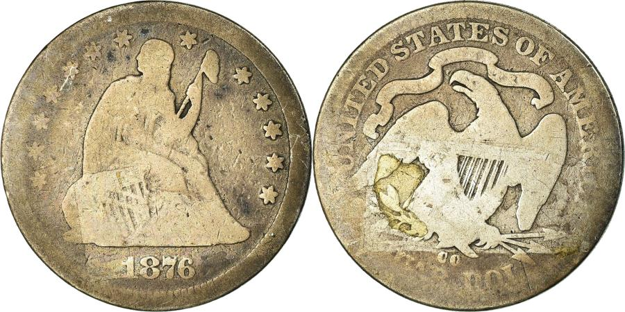 US Coins - Coin, United States, Seated Liberty Quarter, Quarter, 1876, Carson City