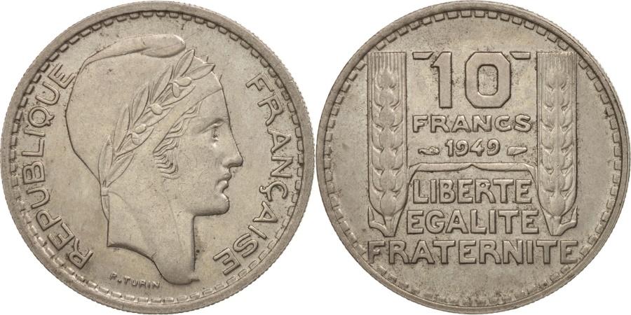 World Coins - France, Turin, 10 Francs, 1949, Paris, , Copper-nickel, KM:909.1