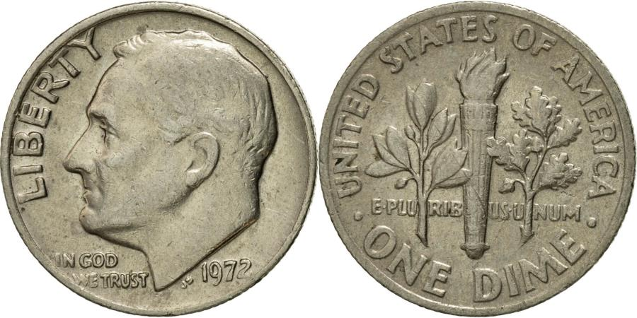 US Coins - Coin, United States, Roosevelt Dime, Dime, 1972, U.S. Mint, Philadelphia