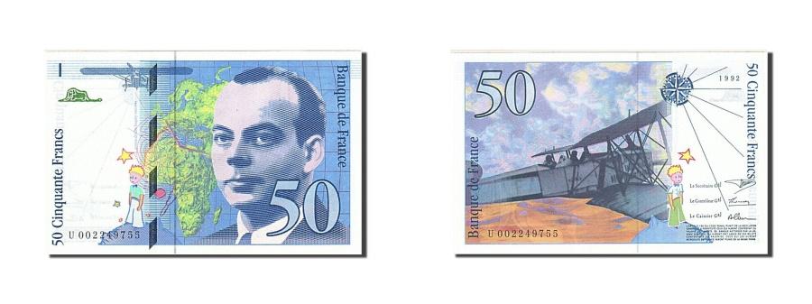 World Coins - FRANCE 50 Francs 1992 KM:157a 1992 UNC(65-70) Fayette:72.1b