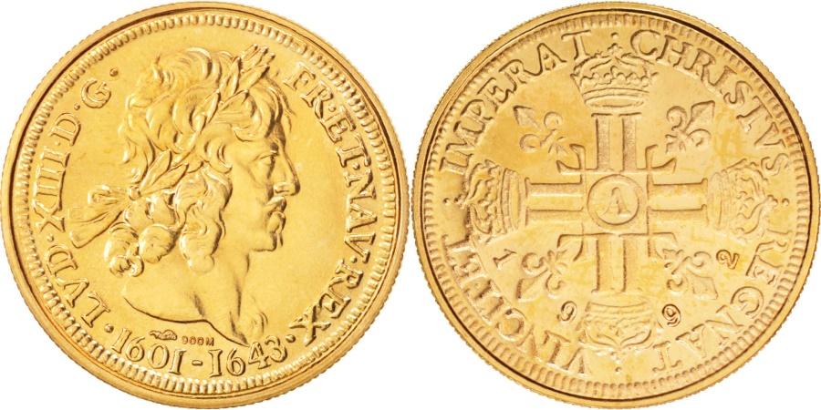 World Coins - France, Medal, Les rois de France, Louis XIII, Louis XIII, History, 1992