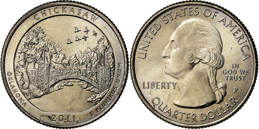 US Coins - Coin, United States, Chickasaw, Quarter, 2011, U.S. Mint, Philadelphia