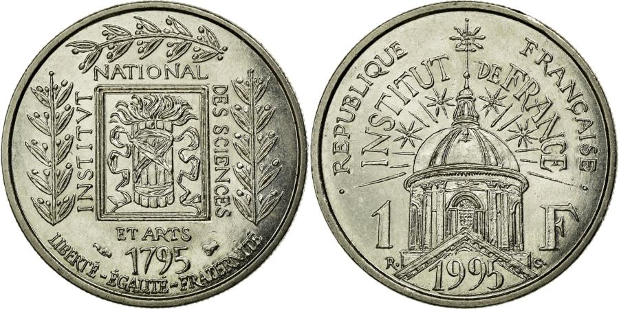 World Coins - Coin, France, Institut, Franc, 1995, MS(60-62), Nickel, KM:1133, Gadoury:480