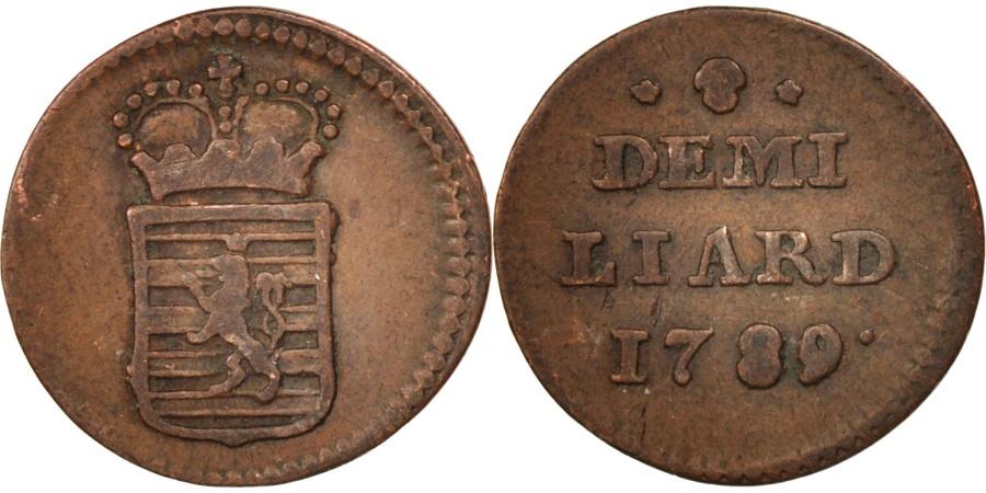 World Coins - Luxembourg, Joseph II, 1/2 Liard, 1789, Brussels, , Copper, KM:10