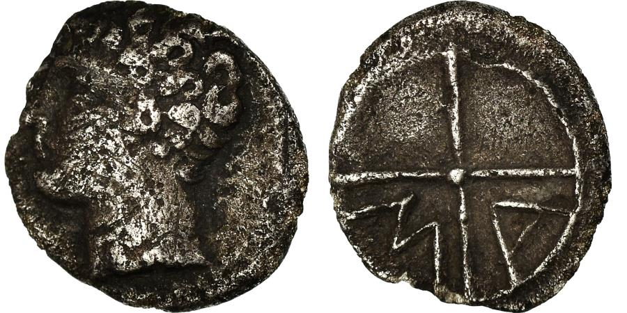 Ancient Coins - Coin, Massalia, Obol, 121-82 BC, Marseille, , Silver, SNG-Cop:723-8