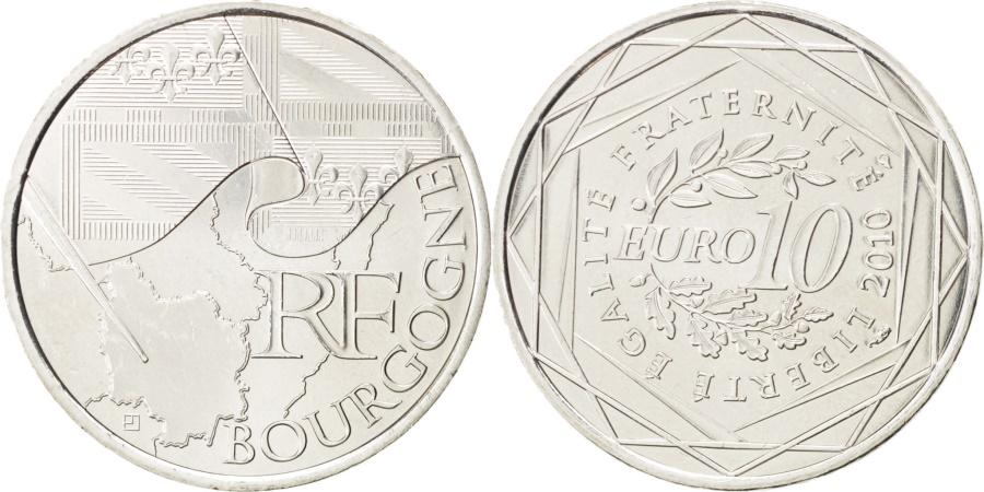 World Coins - FRANCE, 10 Euro, 2010, Paris, KM #1649, , Silver, 29, 10.00
